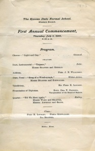 Program for the 1st Commencement